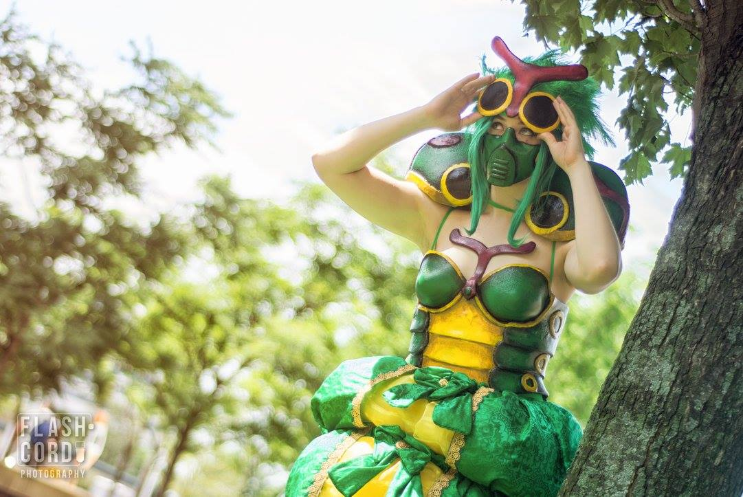 Pokemon: Caterpie cosplay by Mink the Satyr