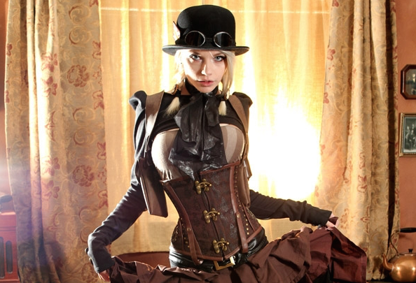 Victorian wild-west steampunk cosplay by Rin