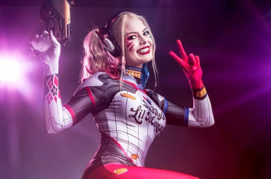 Overwatch/DC: D.Va Quinn cosplay by Infamous Harley Quinn