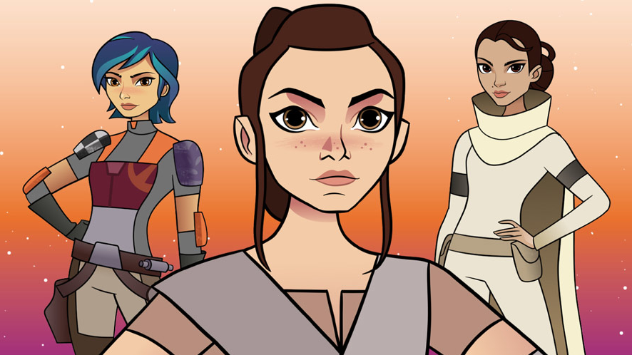 'Star Wars: Forces of Destiny' review: cute animation that grows on you and fun for all ages female-centric plots