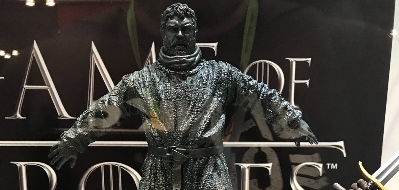 You can own an officially licensed Hodor doorstop, and several other Game of Thrones statues, in 2018