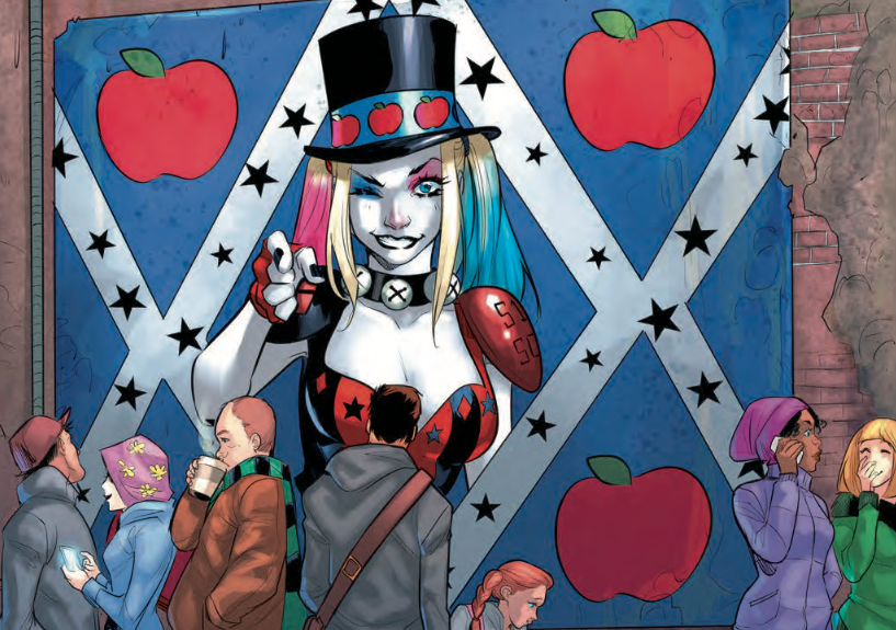 Harley's initial foray into politics isn't off to a good start, but this arc is.