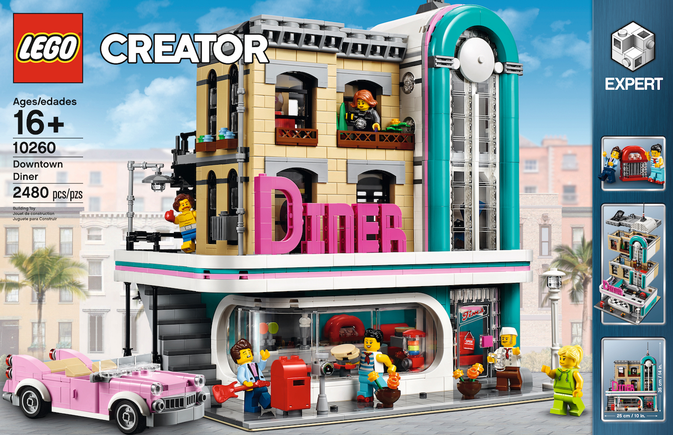 New from LEGO, this January everyone can enjoy the 2,400 piece Downtown Diner