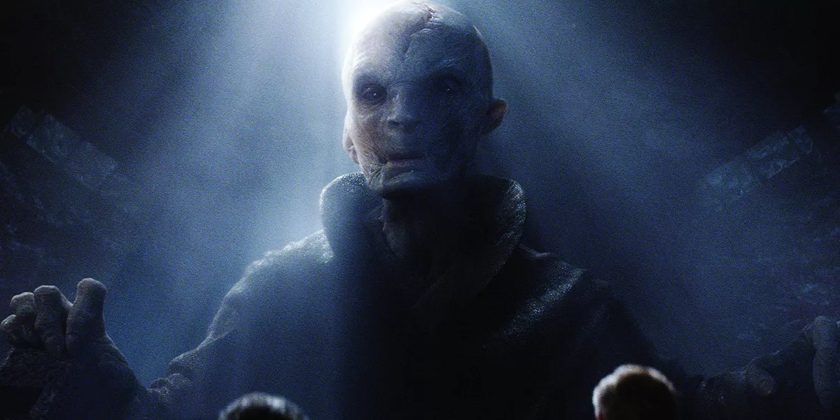 More of Snoke's backstory revealed: '[He] trained at least one other apprentice' and had followers in the Unknown Regions