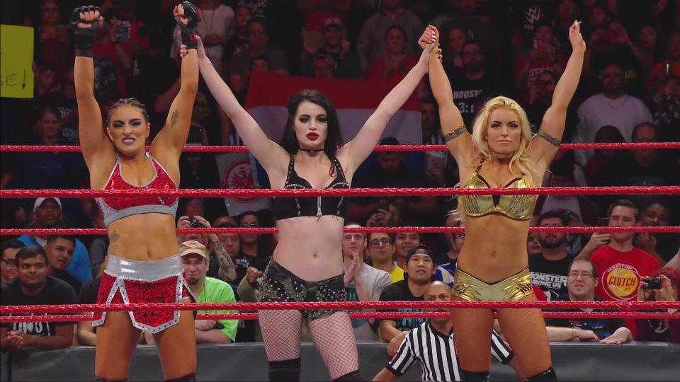 Paige returns with backup, The Miz defends his Intercontinental Championship against Roman Reigns and more.