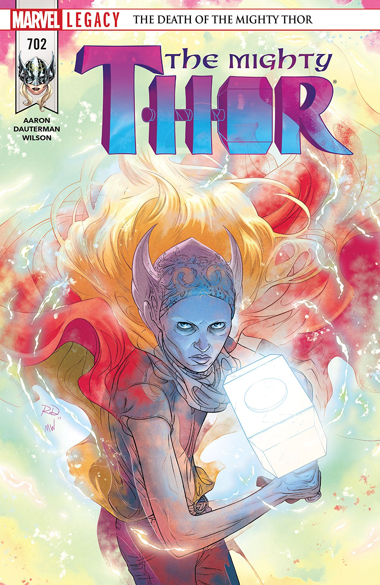 Thor and Odinson commune in a tender issue that sets up big action come #703.
