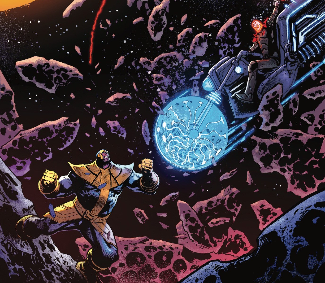 Thanos fights Thanos in another epic installment of Marvel's latest Thanos arc.