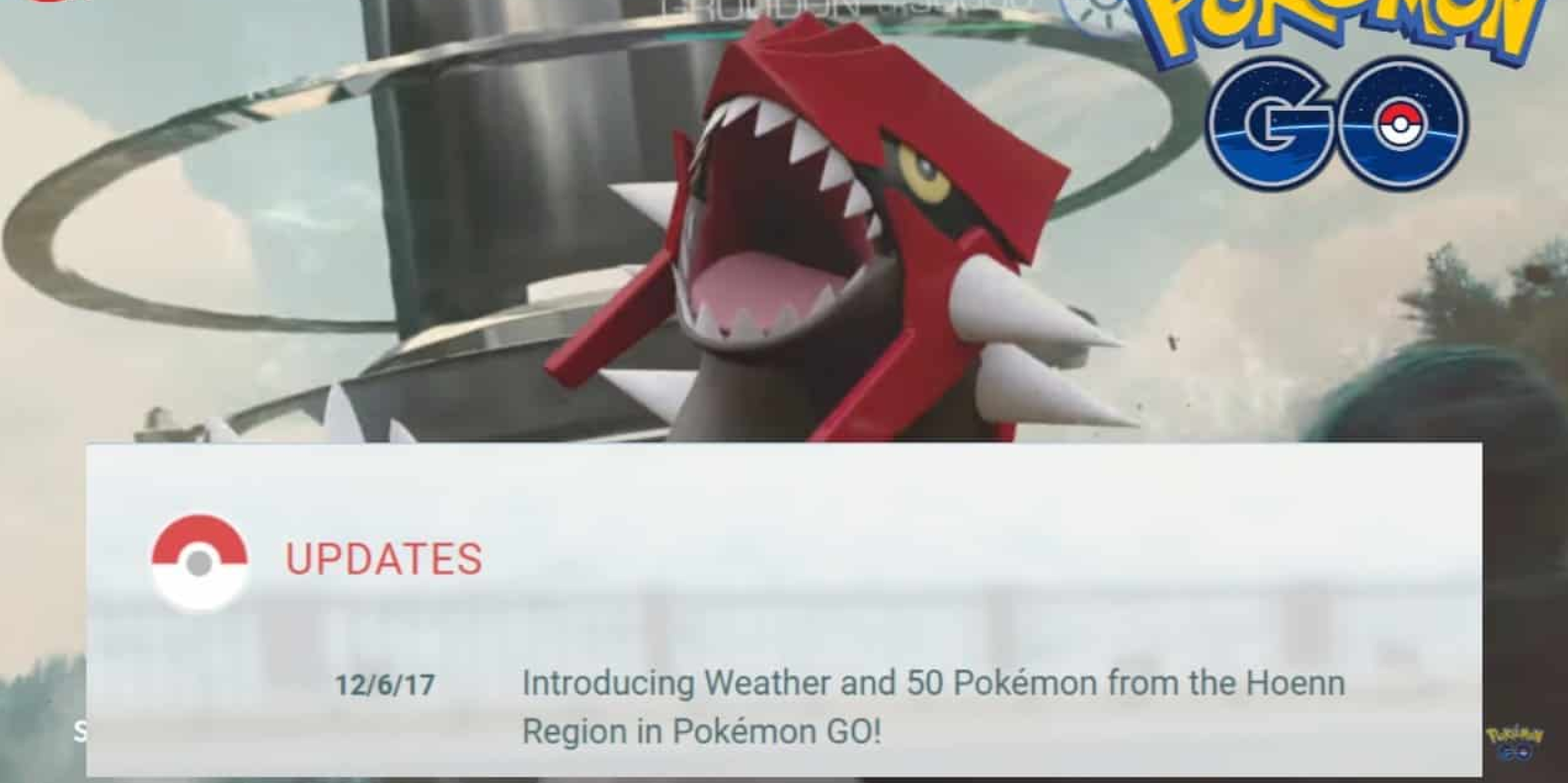 Pokemon Go: Latest update introduces 50 new Pokémon from the Hoenn Region and weather effects