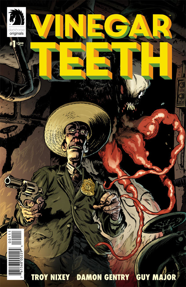 """If any publisher deserved the title of """"weirdest,"""" it'd have to be Dark Horse Comics. They publish Mignola's crazy ideas on a regular basis, give creators a chance to do what they want, and harbor some of the greatest horror comics ever. Enter a new series, Vinegar Teeth, which is about as weird as the title suggests."""
