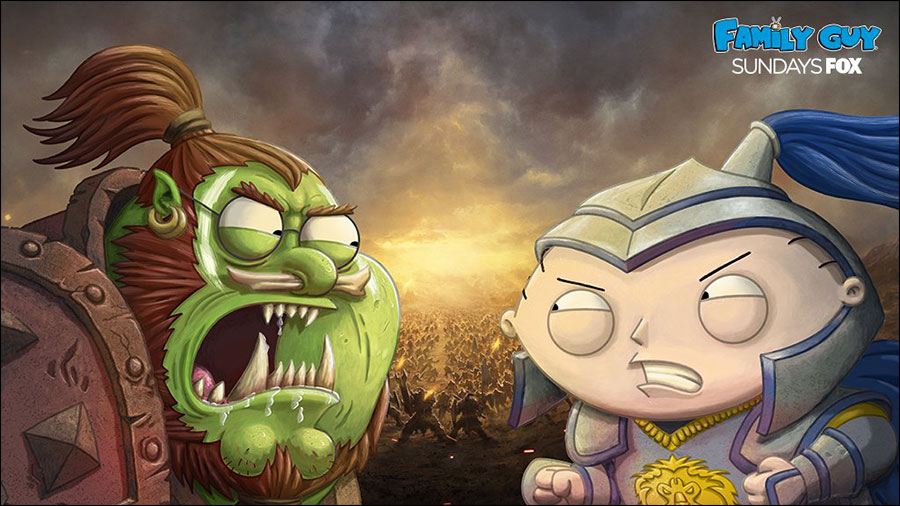 Family Guy will feature Warcraft in April 1's episode