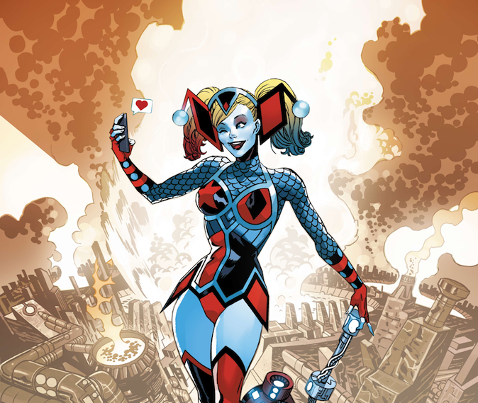 Harley Quinn gets a major power up from the New Gods this July