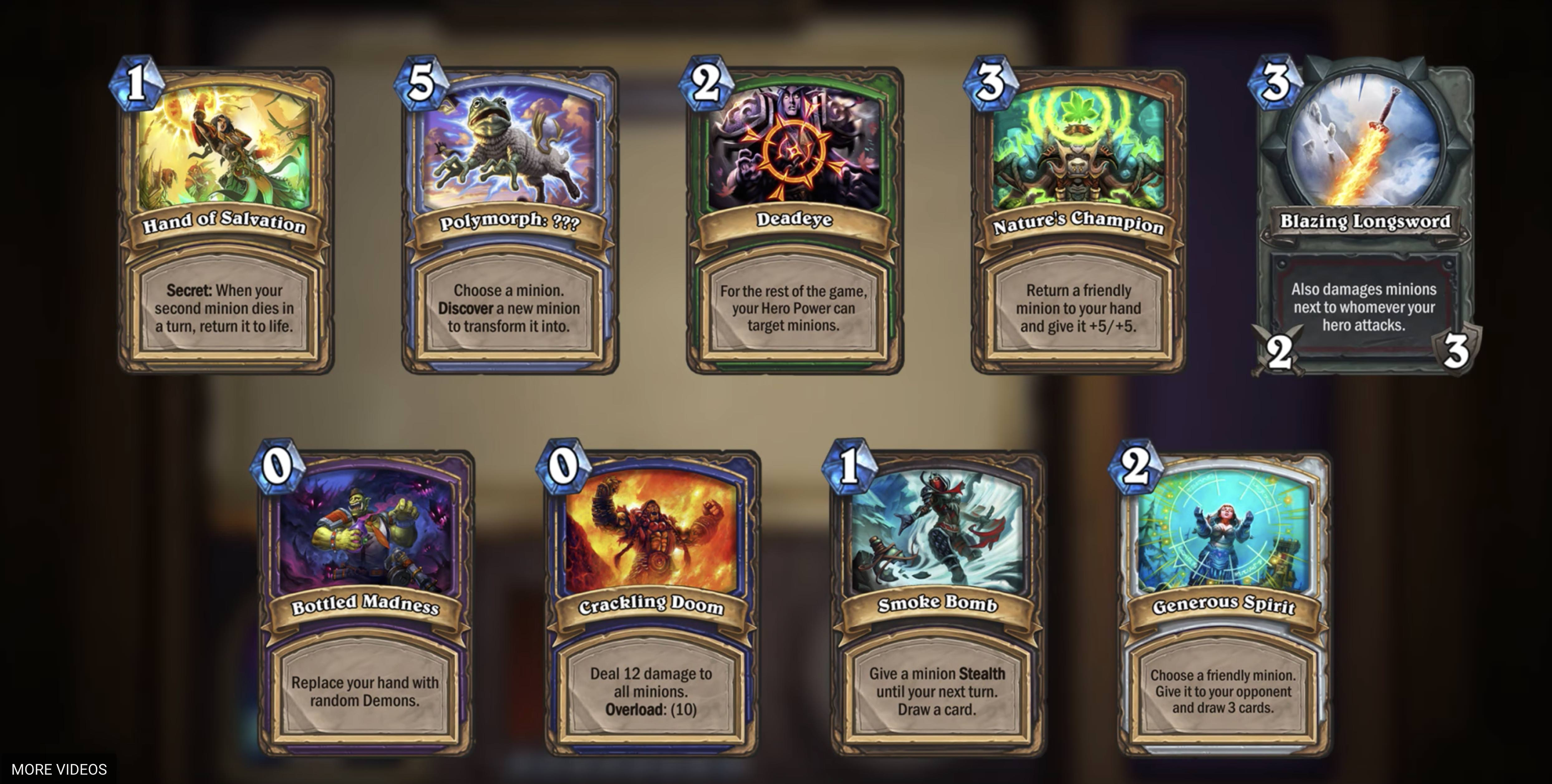 Hearthstone: Upcoming Arena changes will see vastly improved card selection, Arena-exclusive cards