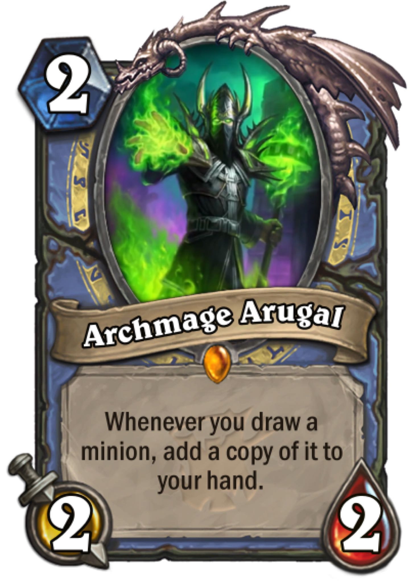 Hearthstone: The Witchwood: New Legendary Mage card revealed, Archmage Arugal