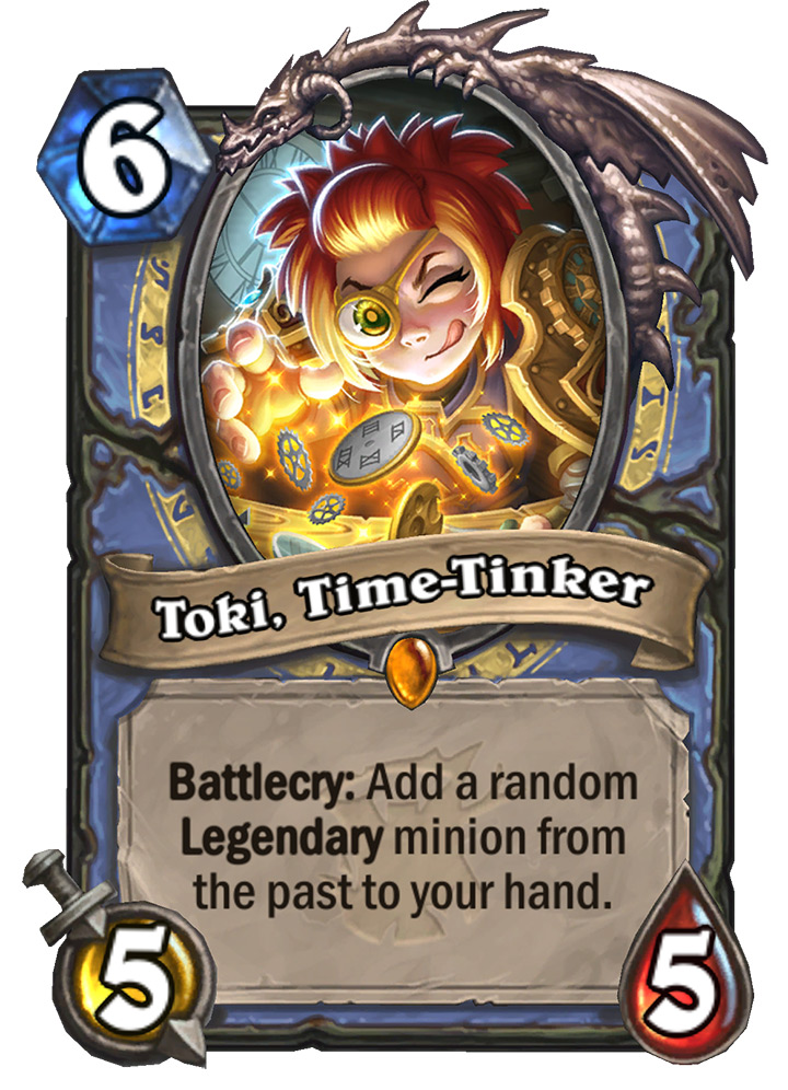 Hearthstone: The Witchwood: New Legendary Mage card revealed, Toki, Time-Tinker