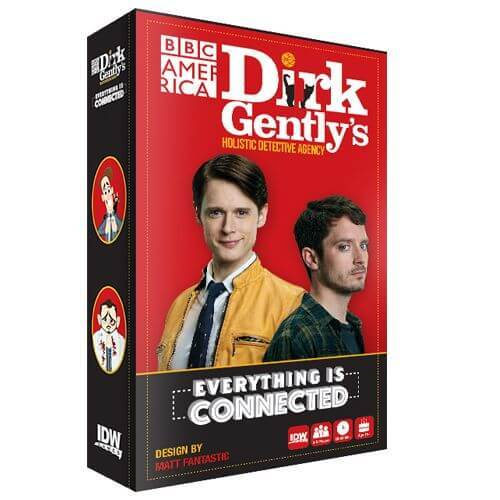 IDW's party game Dirk Gently's Holistic Detective Agency: Everything is connected relies on mechanics of past games without adding enough new material to engage gamers who aren't already fans of the show.