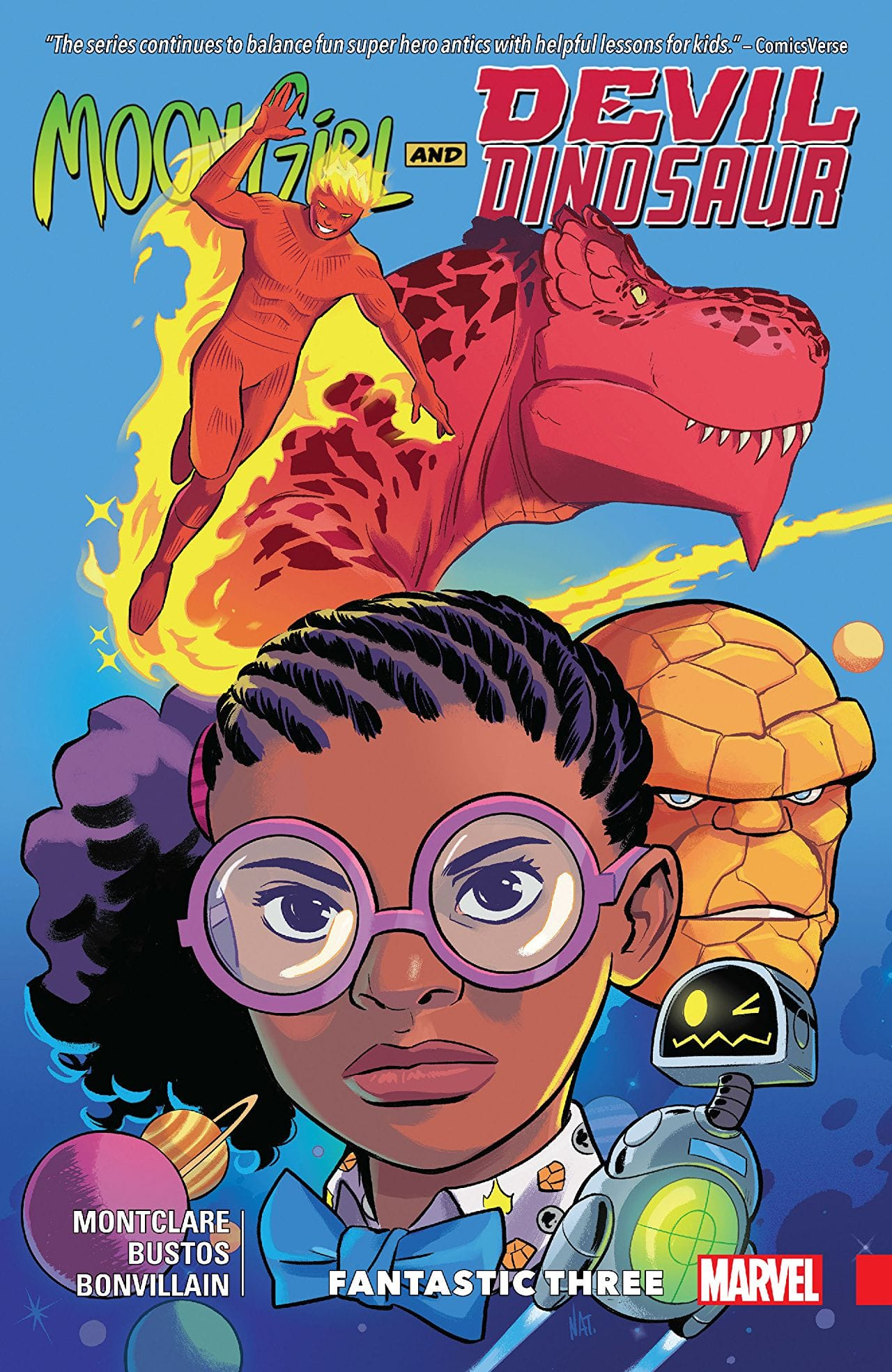 'Moon Girl and Devil Dinosaur Vol. 5: Fantastic Three' review: Humorous fun for all ages