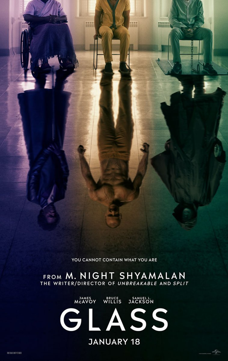 M. Night Shyamalan's 'Unbreakable' and 'Split' sequel 'Glass' gets a teaser poster