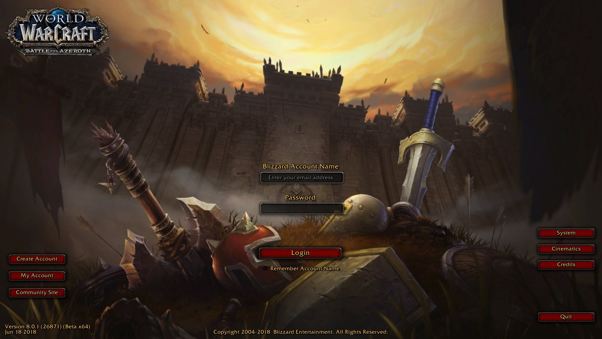 World of Warcraft: First look at Battle For Azeroth's login screen
