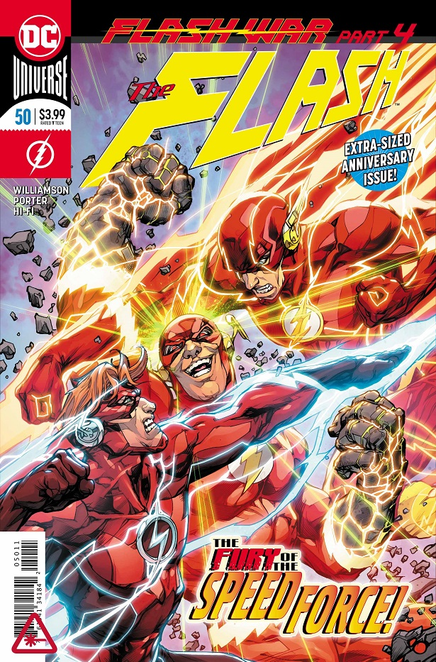 "An oversized anniversary issue that serves as the penultimate issue of ""Flash War,"" and totally deserves it."