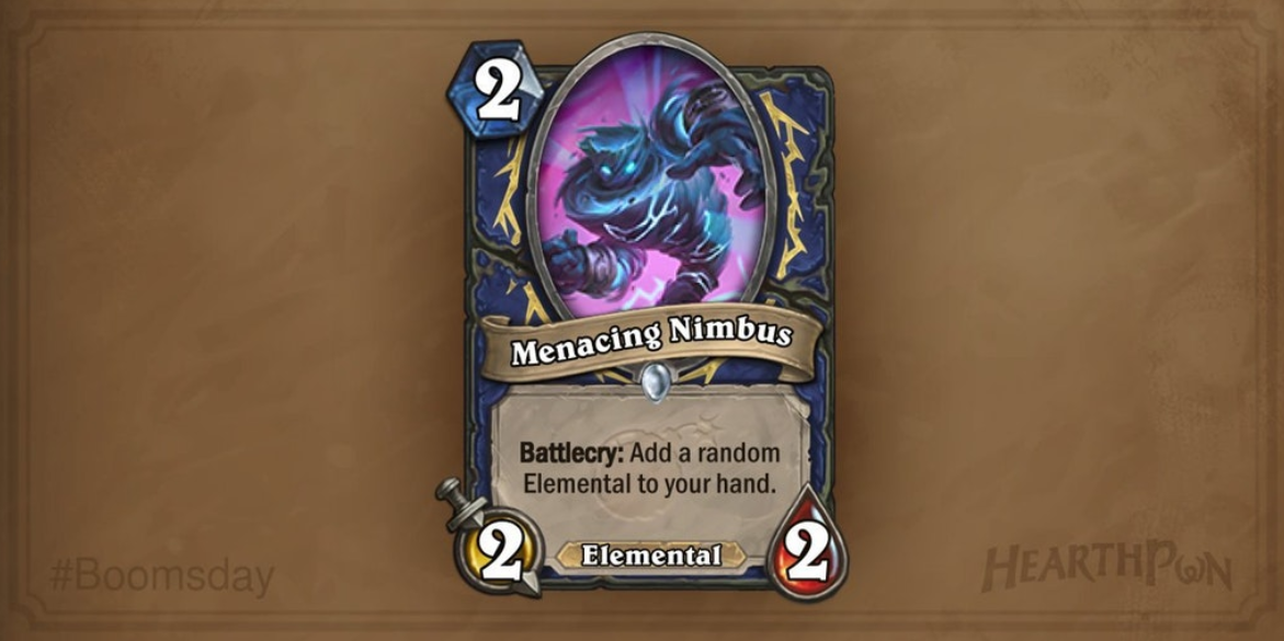 Hearthstone: The Boomsday Project: New shaman card revealed, Menacing Nimbus