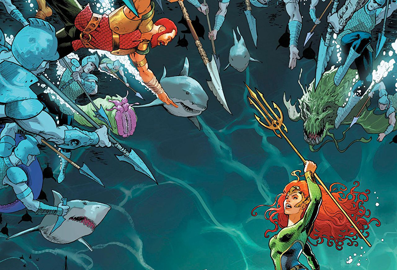 Mera faces off against the Ocean Master in the final issue of her solo miniseries.