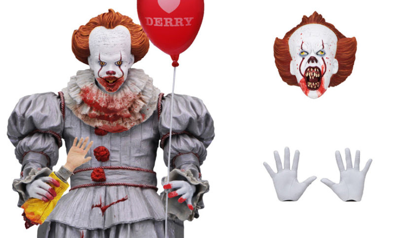 Your first look at GameStop's exclusive NECA Pennywise action figure.