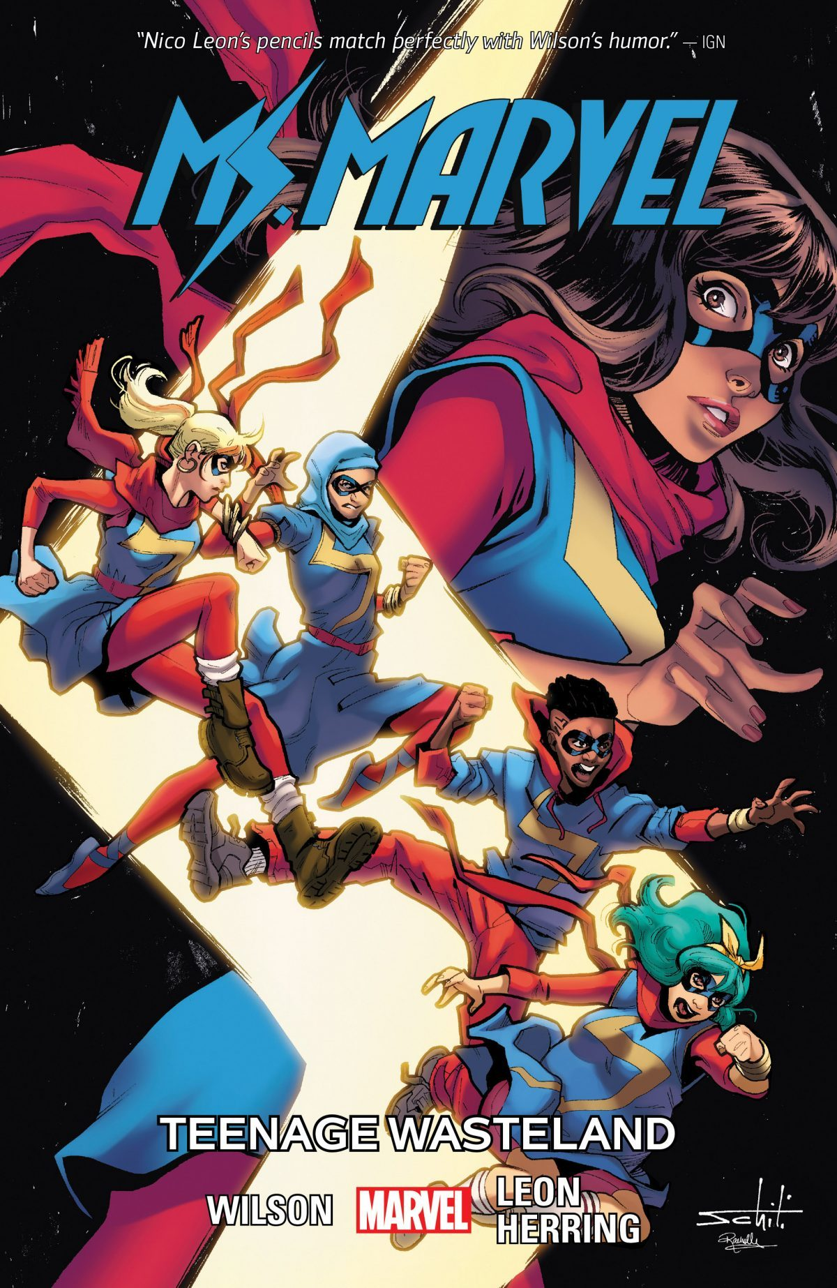 Vol. 9 allows Wilson to show off Ms. Marvel's strong supporting cast of characters.