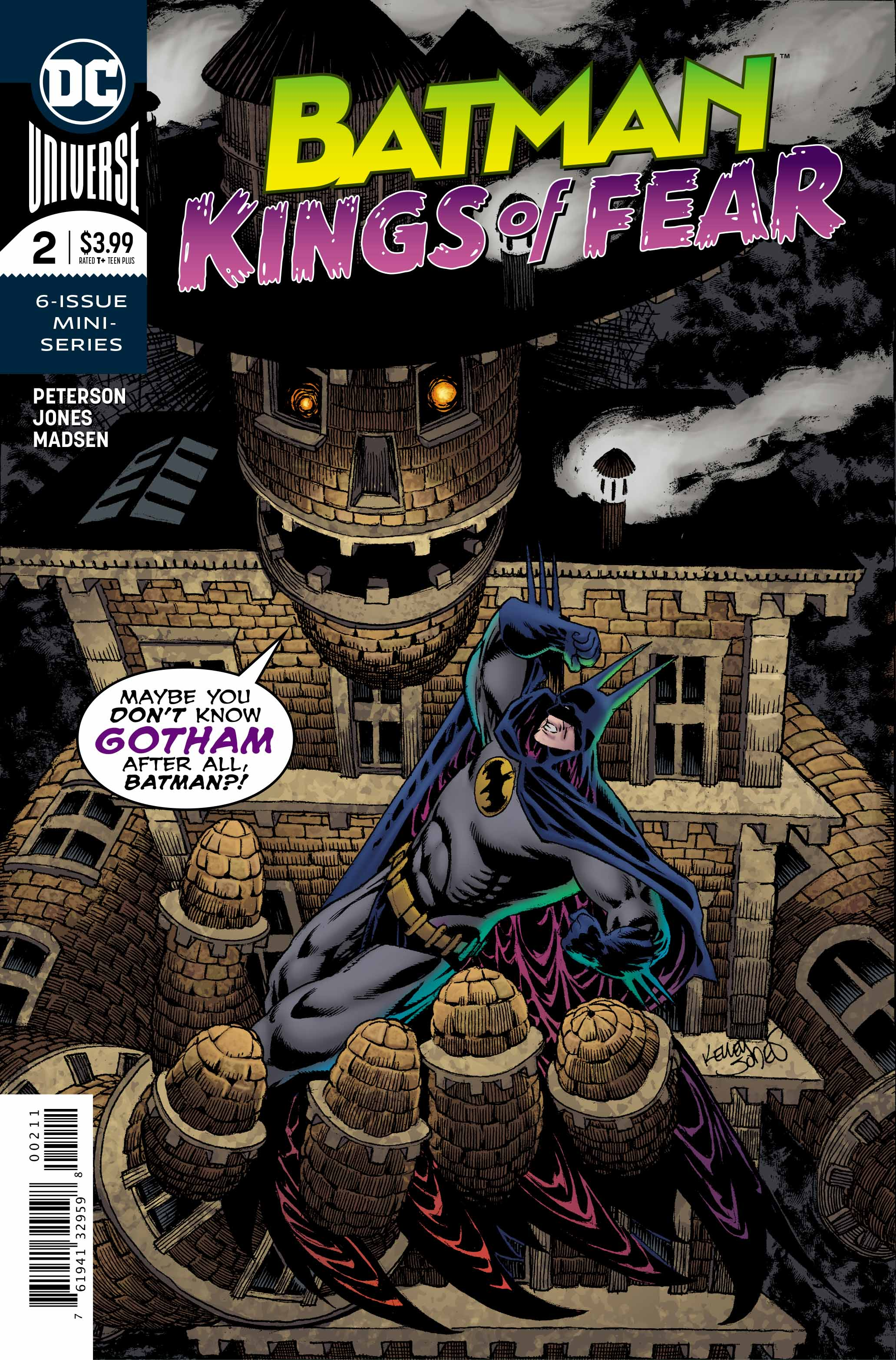 Scarecrow is loose in the streets of Gotham City, and Batman must drag him back to Arkham Asylum!