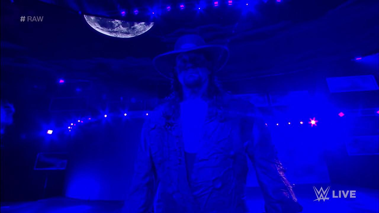 The Undertaker showed up on WWE Monday Night Raw to confront Shawn Michaels
