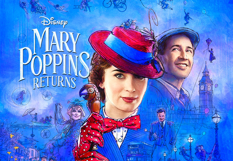 The full length trailer for Mary Poppins was released today.