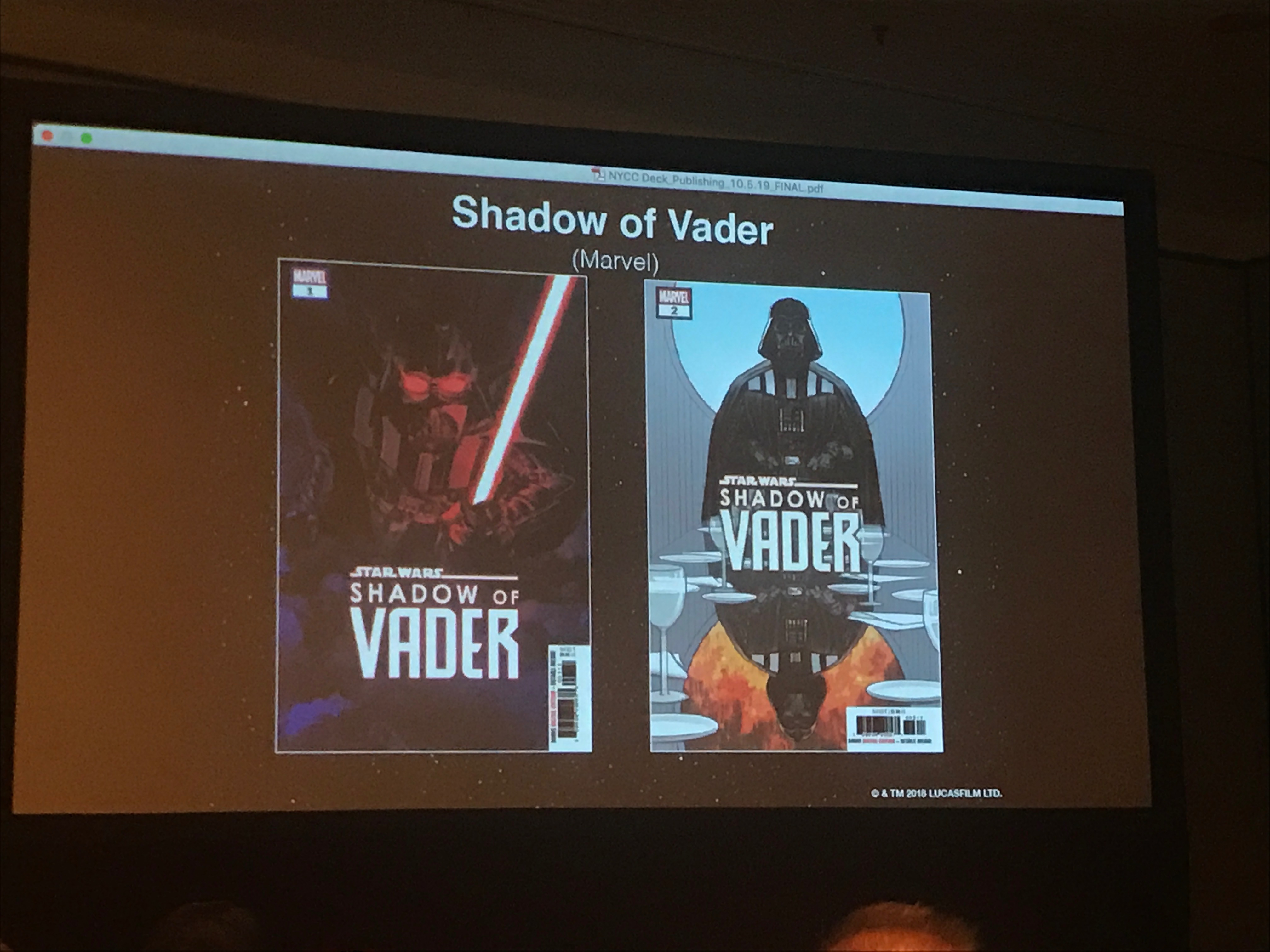 NYCC 2018: Shadow of Vader comic series announced with Chuck Wendig as writer