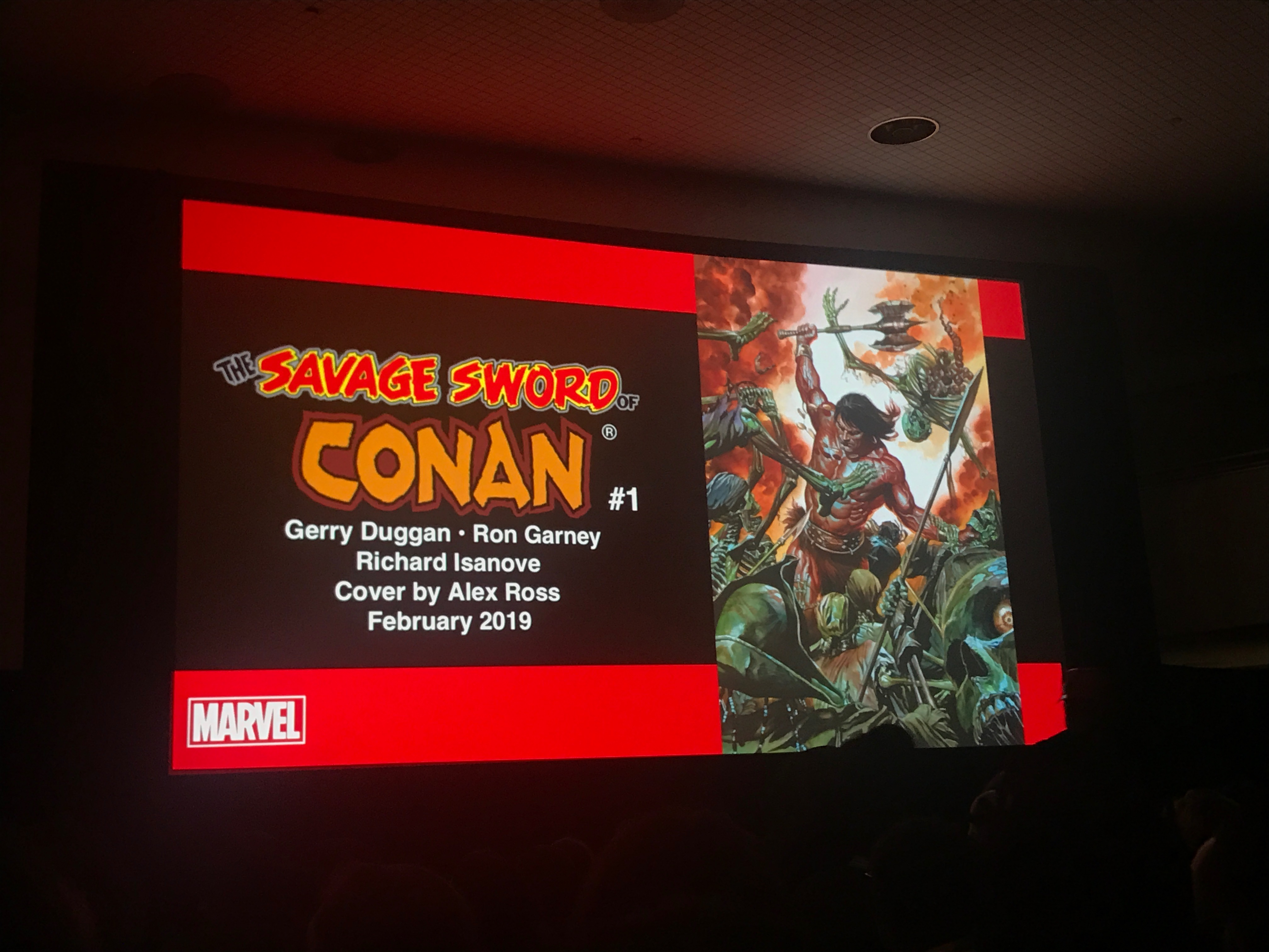 With the looming finale ofInfinity Wars, many readers wonder where Gerry Duggan's tenure with Marvel would go next. Wonder no more, as Marvel unveiledSavage Sword of Conan at New York Comic Con, written by Gerry Duggan and drawn by Ron Garney with covers by Alex Ross.