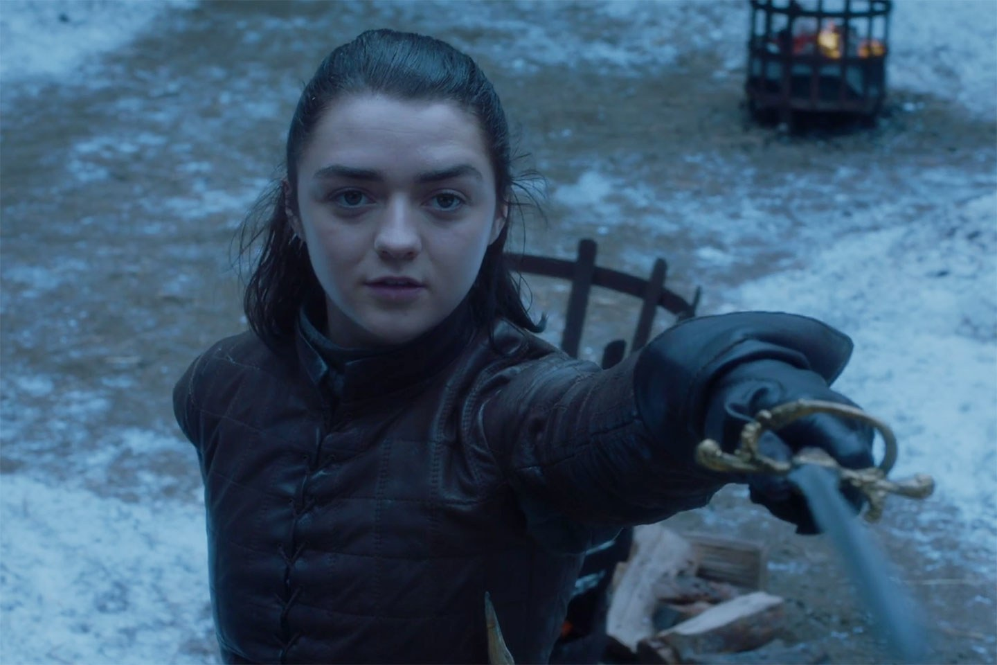 A girl is Arya Stark of Winterfell and she has a beautiful ending.