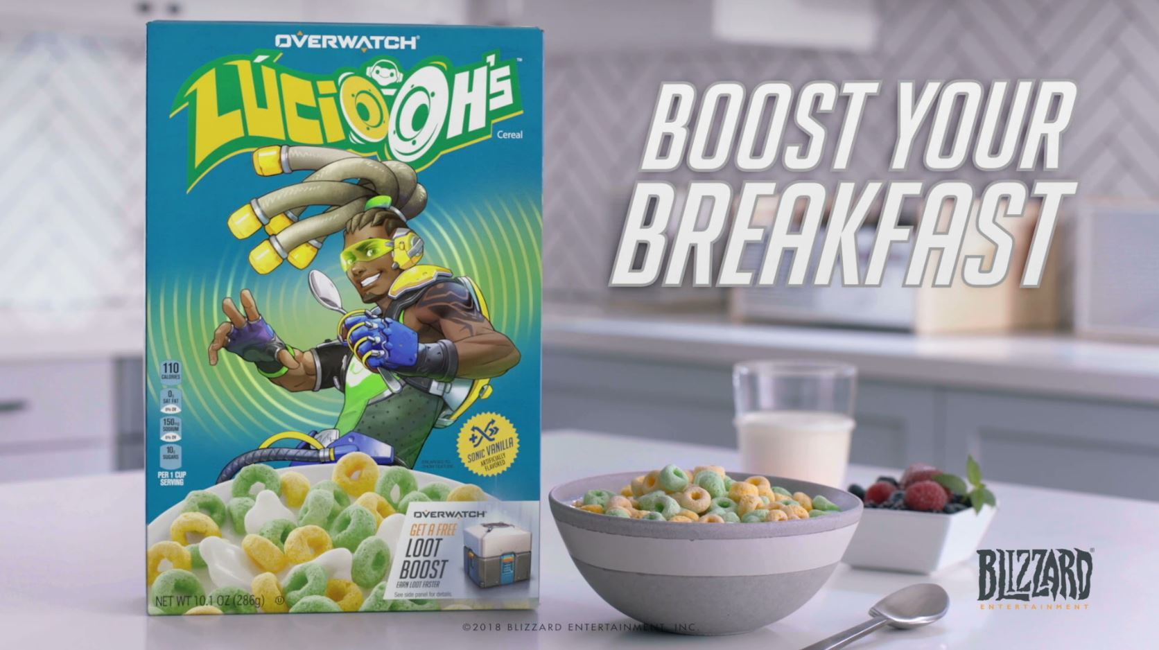 Overwatch Lúcio-Oh's are now a real cereal coming later this year