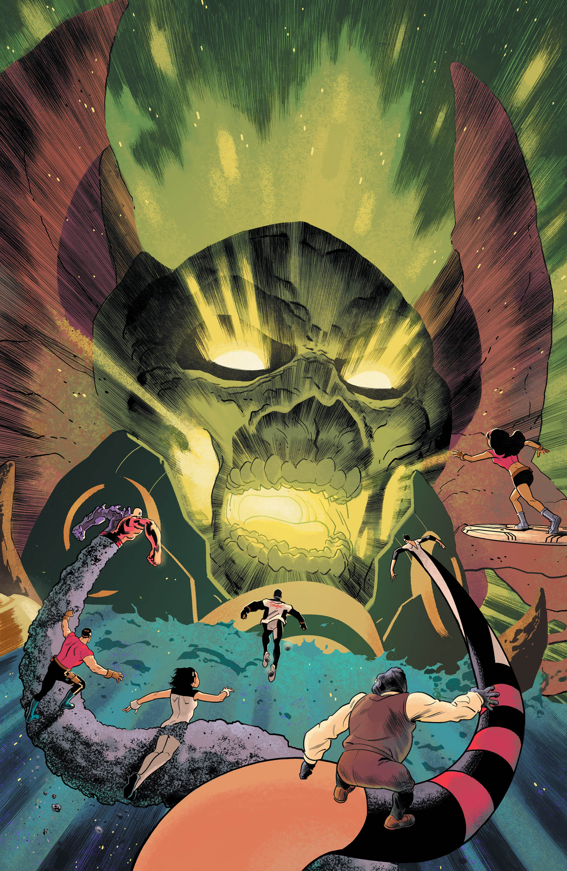 The totally titanic termination titan targeted to take out the Terrifics by the terribly troubled Doctor Dread in this issue of the Terrifics is a terrific call back to the series as a whole.