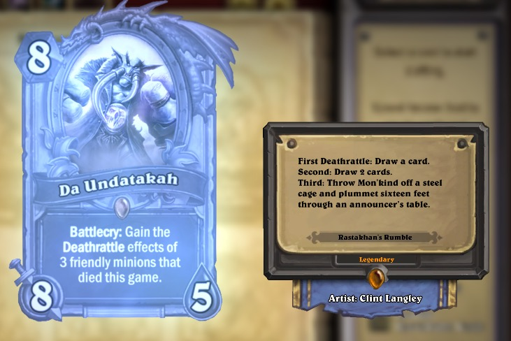 The latest Hearthstone expansion features a reference to The Undertaker and Mankind's infamous Hell in a Cell match