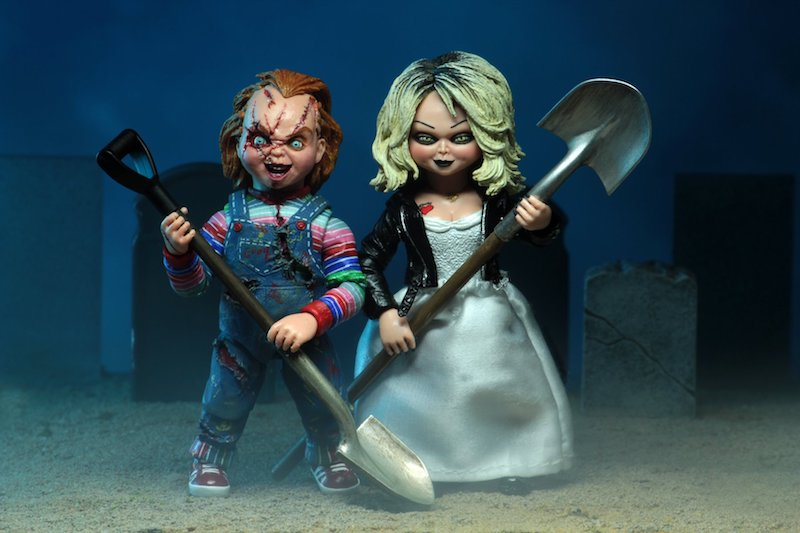 NECA Toys releases new images from their upcoming Bride of Chucky - Ultimate Chucky and Tiffany 2-pack.