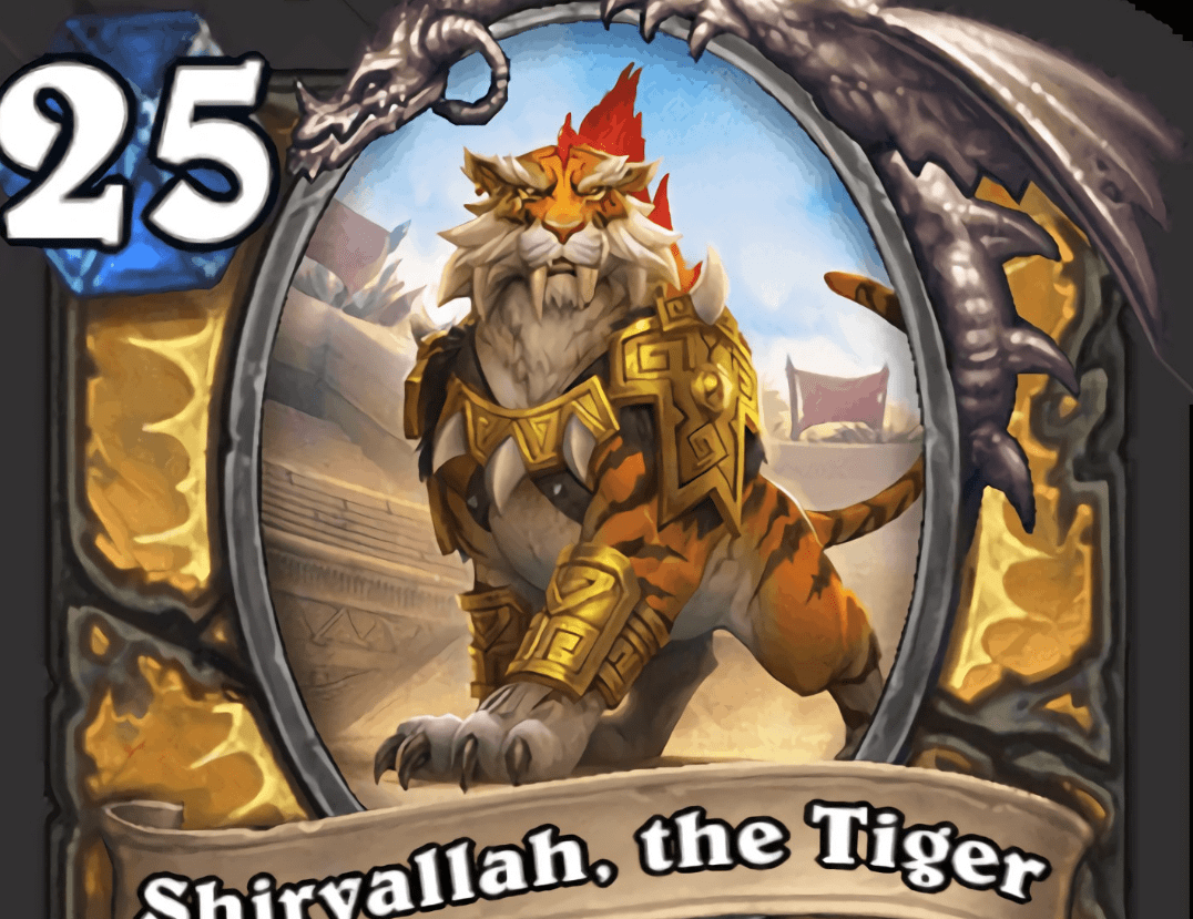 Hearthstone: Legendary Paladin minion Shirvallah, the Tiger and three other cards from 'Rastakhan's Rumble' revealed