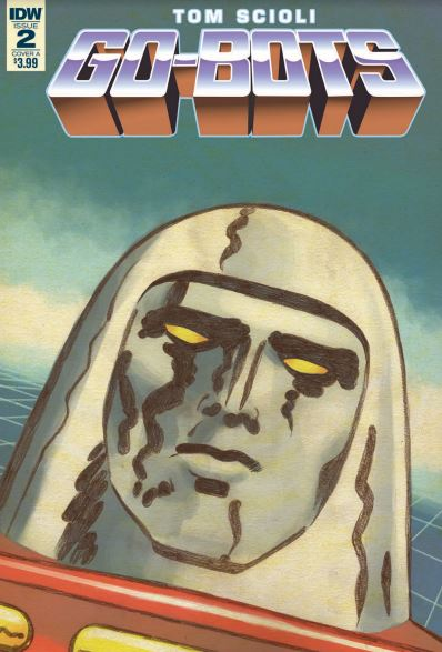 Go-Bots #2 is a clever re-imaging of the Go-Bots franchise, looking at humanity's relationship with technology and labour. A good book although the artwork may be polarising due to its distinctive style and look.