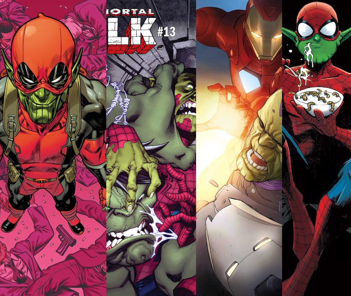 On the heels of 'Captain Marvel' the Skrulls invade the Marvel variant covers this February
