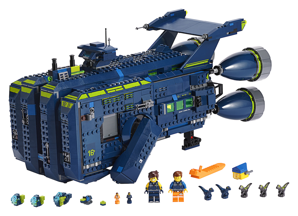 Feast your eyes on the LEGO Movie 2 Rexcelsior spaceship set