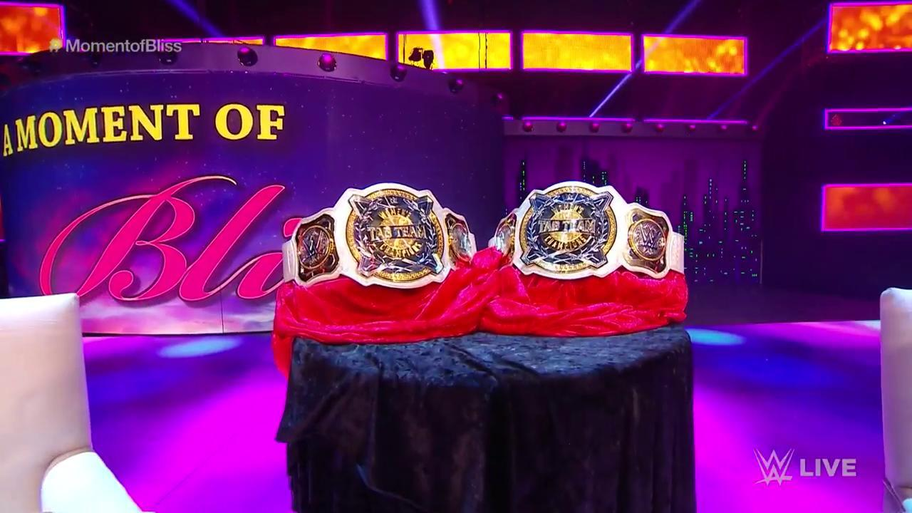 Alexa Bliss unveils the WWE Women's Tag Team Championships on Raw