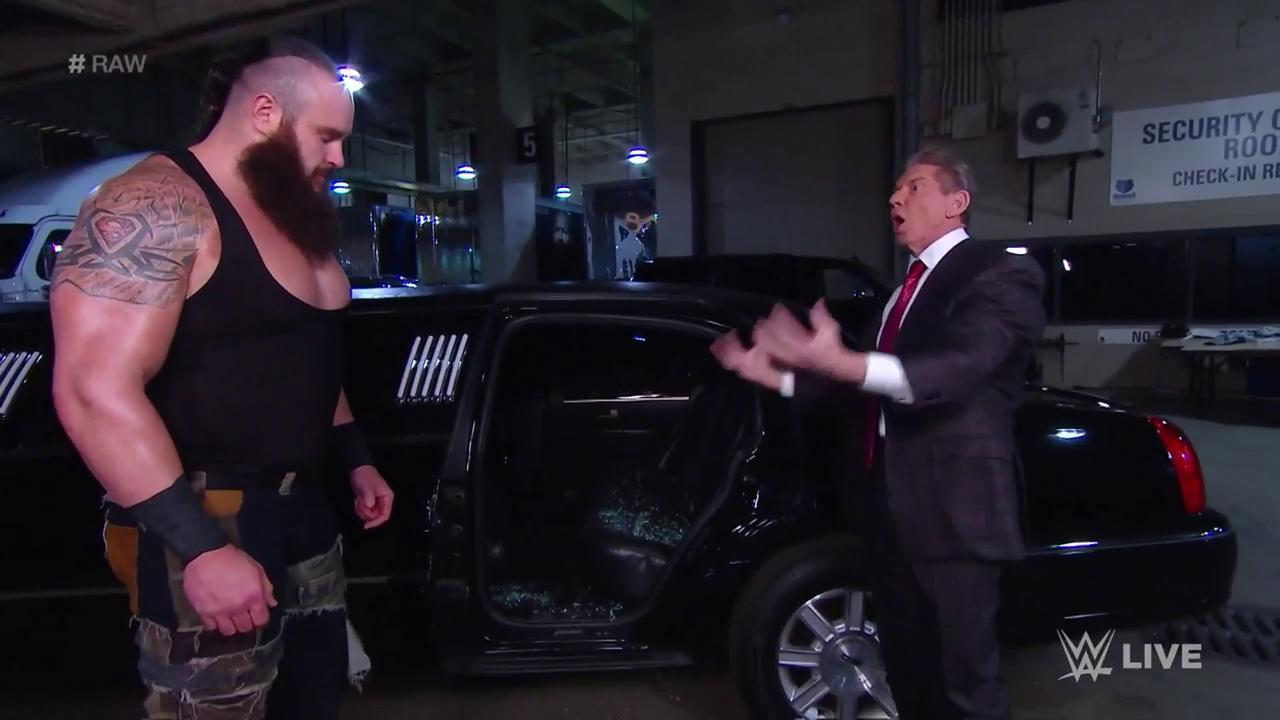 Braun Strowman stripped of his Royal Rumble Universal title shot against Brock Lesnar on WWE Raw