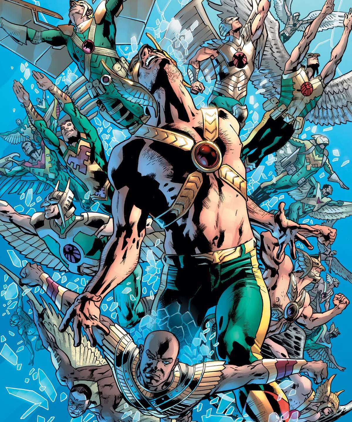 The great epiphany of Hawkman by Venditti and Hitch