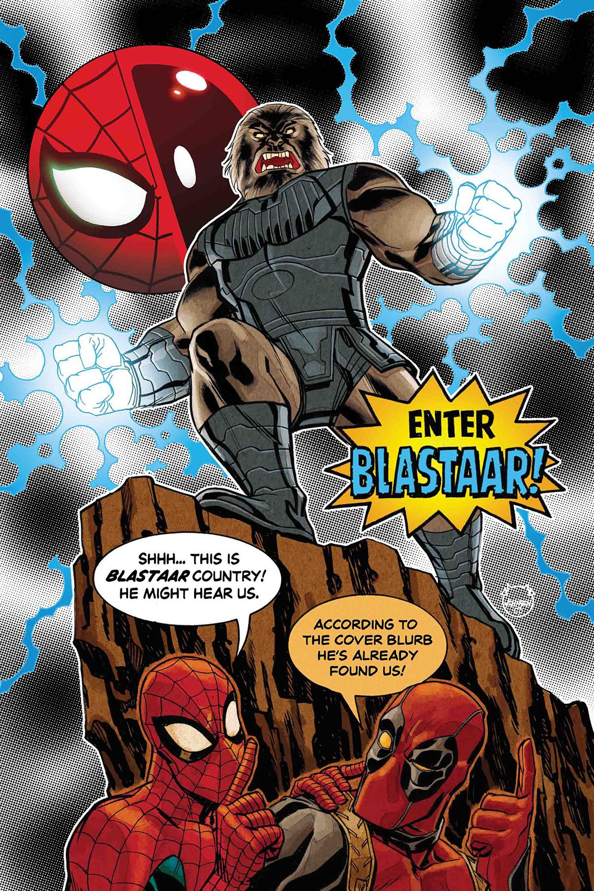 Let's just say Spider-Man and Deadpool aren't not trapped in the Negative Zone.