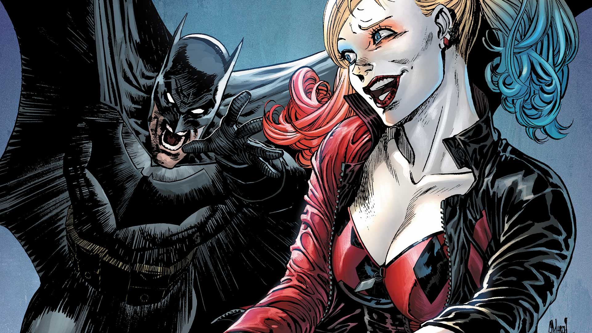 There's been a murder in Gotham City, and all evidence points to just one suspect: Harley Quinn!  Which means Batman is on her tail.
