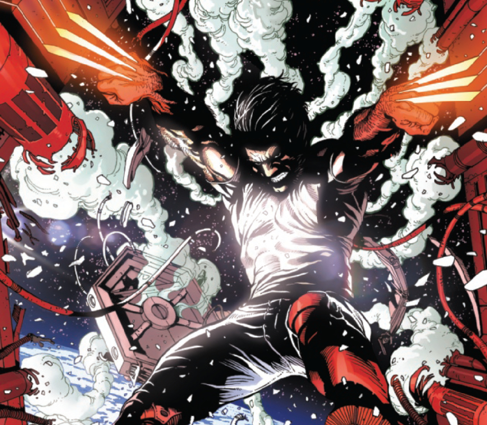 Wolverine officially returns in a bloodbath issue.