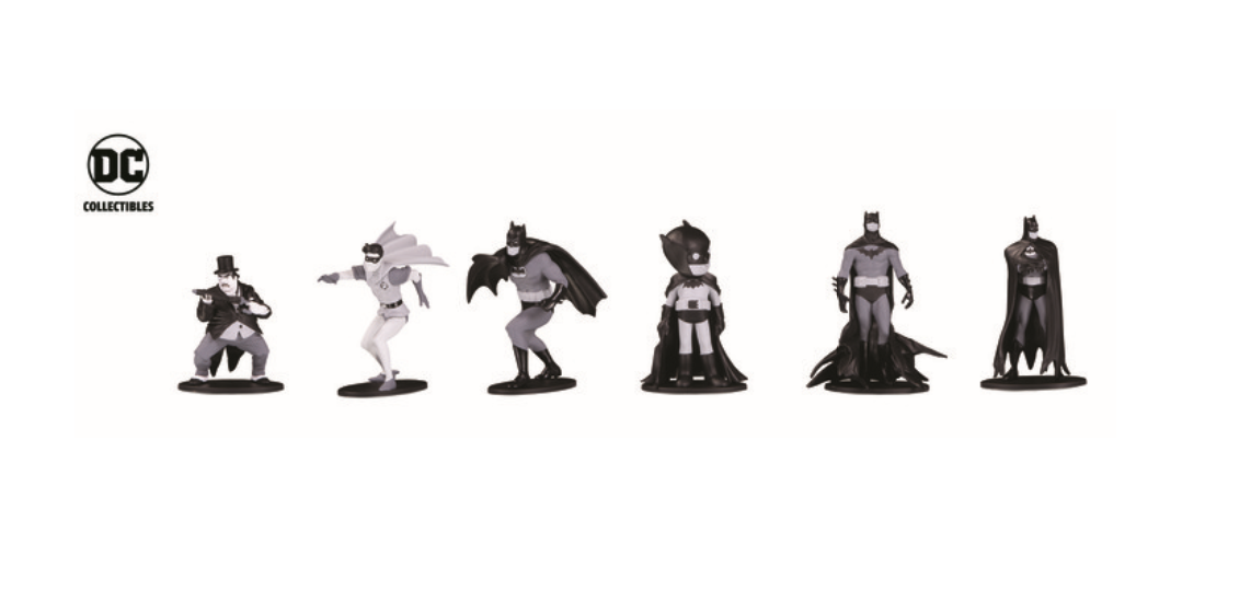 DC announces new black & white Batman collectibles coming to Walmart