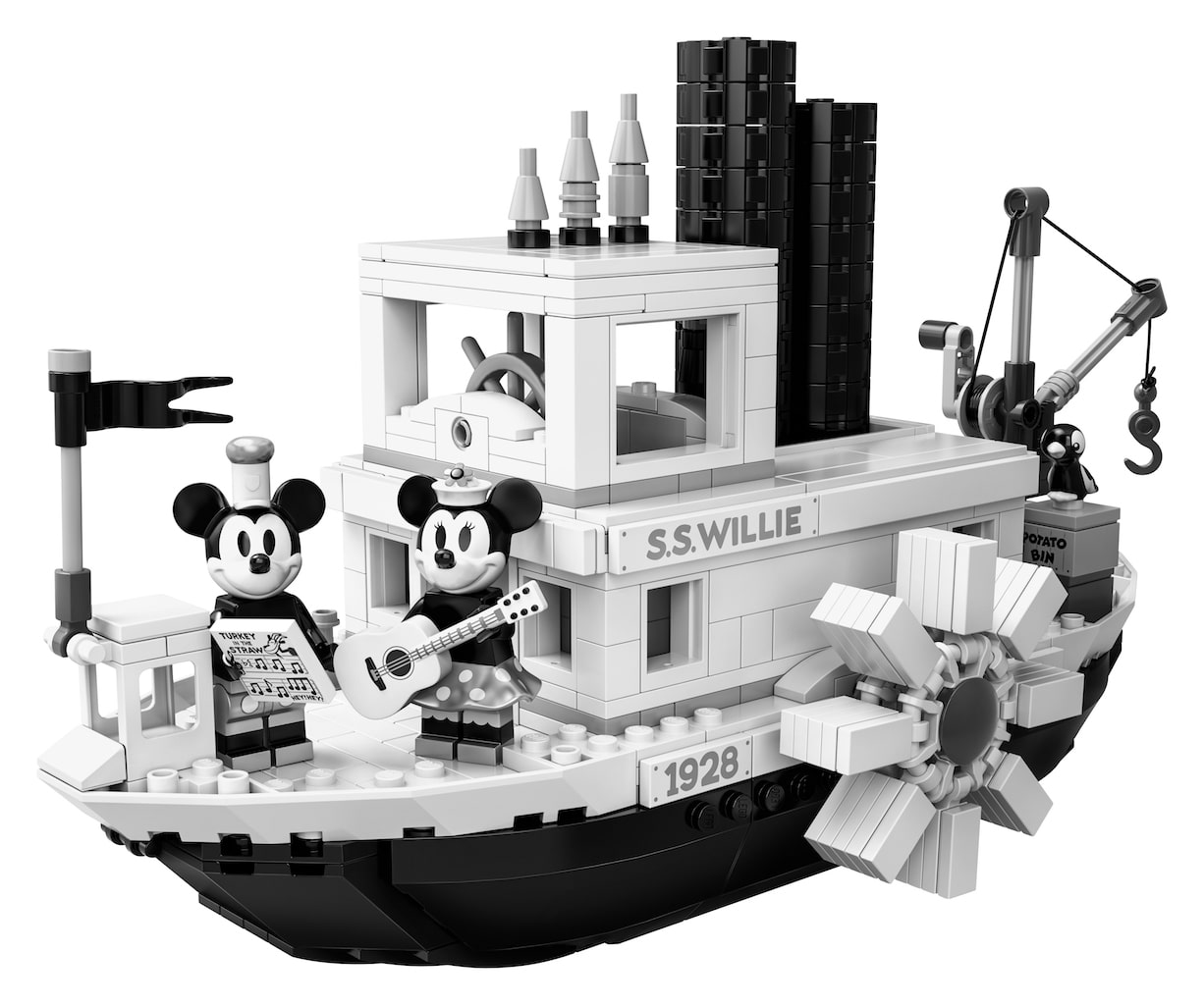 Disney and LEGO celebrate Mickey Mouse's birthday with Steamboat Willie set