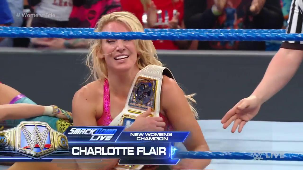 Charlotte Flair wins SmackDown Women's Championship two weeks before WrestleMania